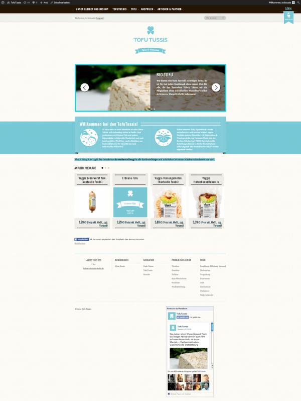 Screenshot Webseite TofuTussis