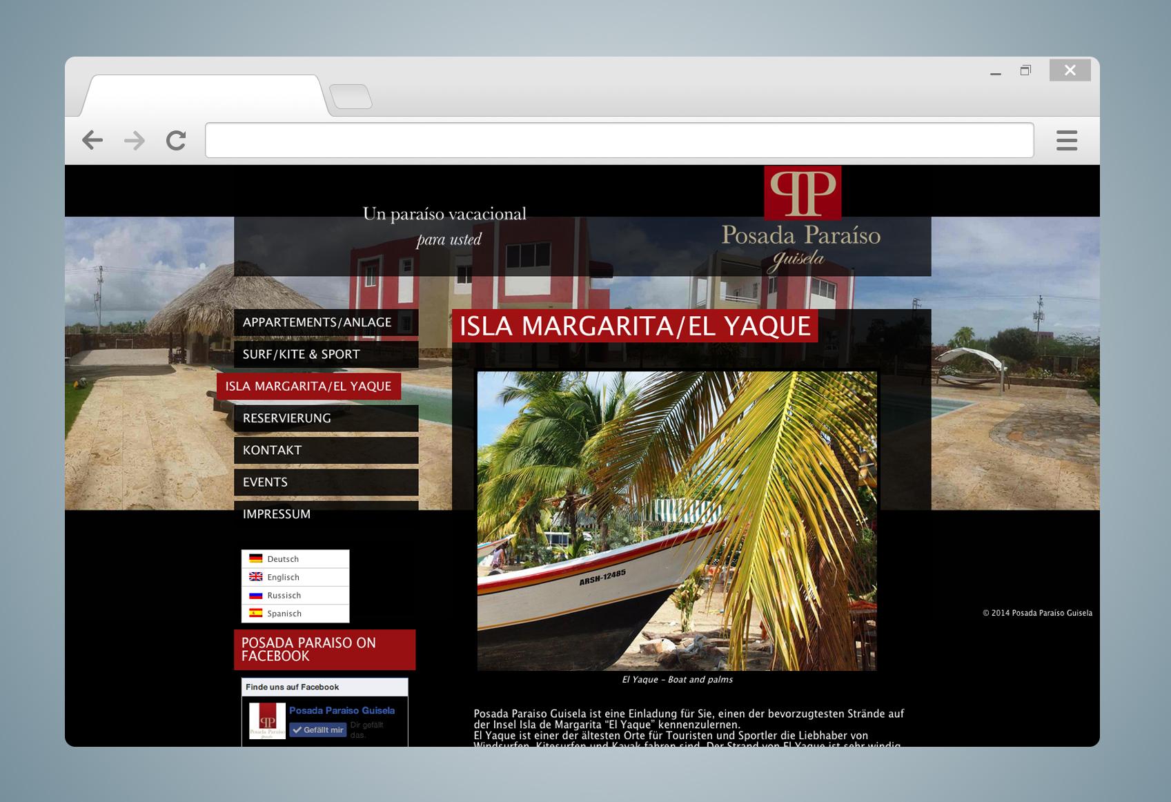 Screenshot Posada Paraiso