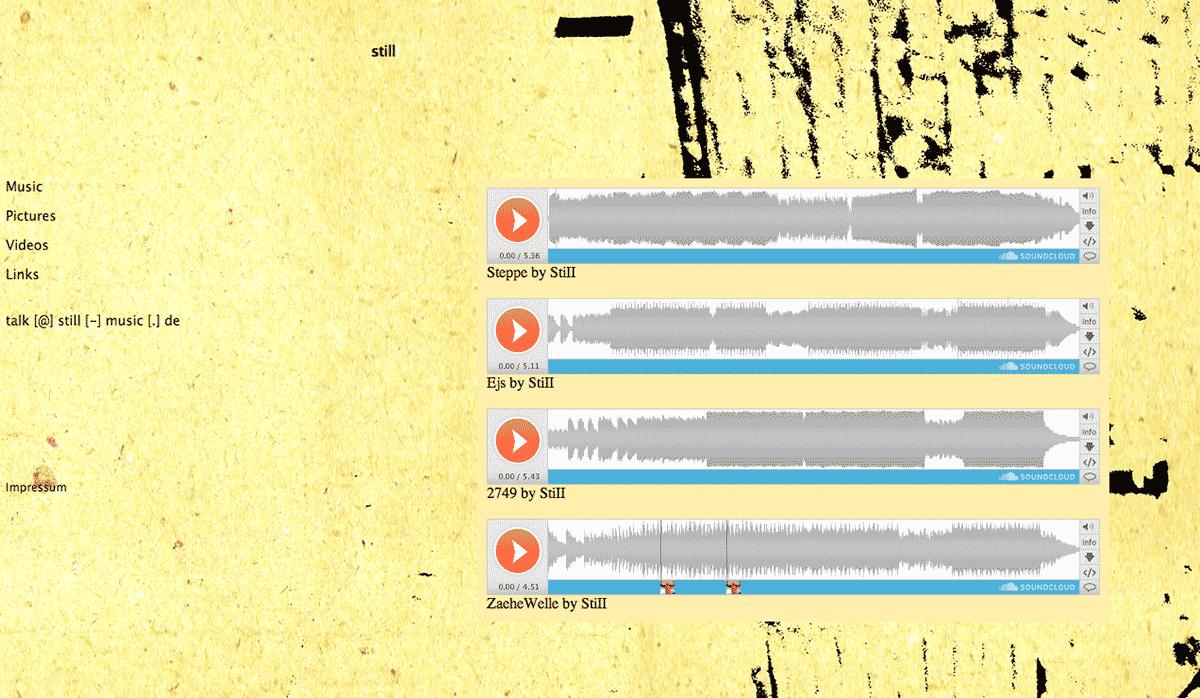 Screenshot Website Still Music