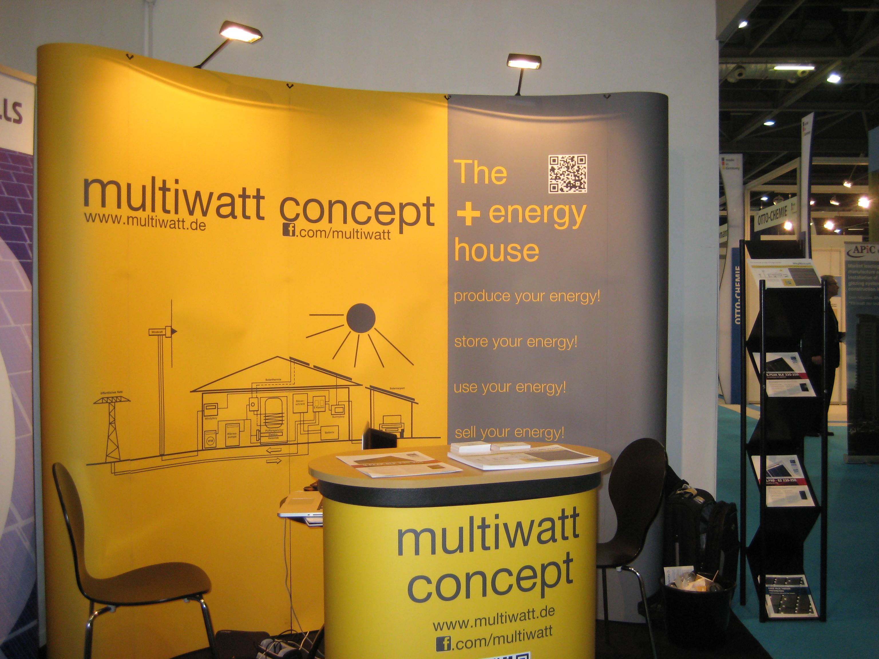 Der multiwatt Messestand auf der Ecobuild 2012