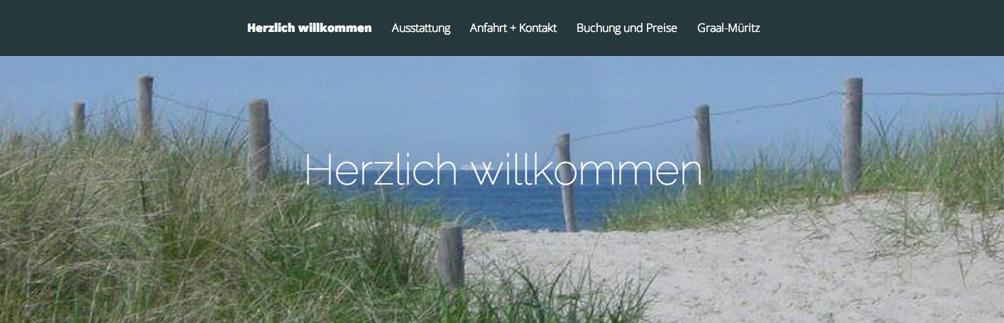 """Screenshot Webseite: """"Fahrenkrug Ostseeurlaub"""" Ferienwohnung"""