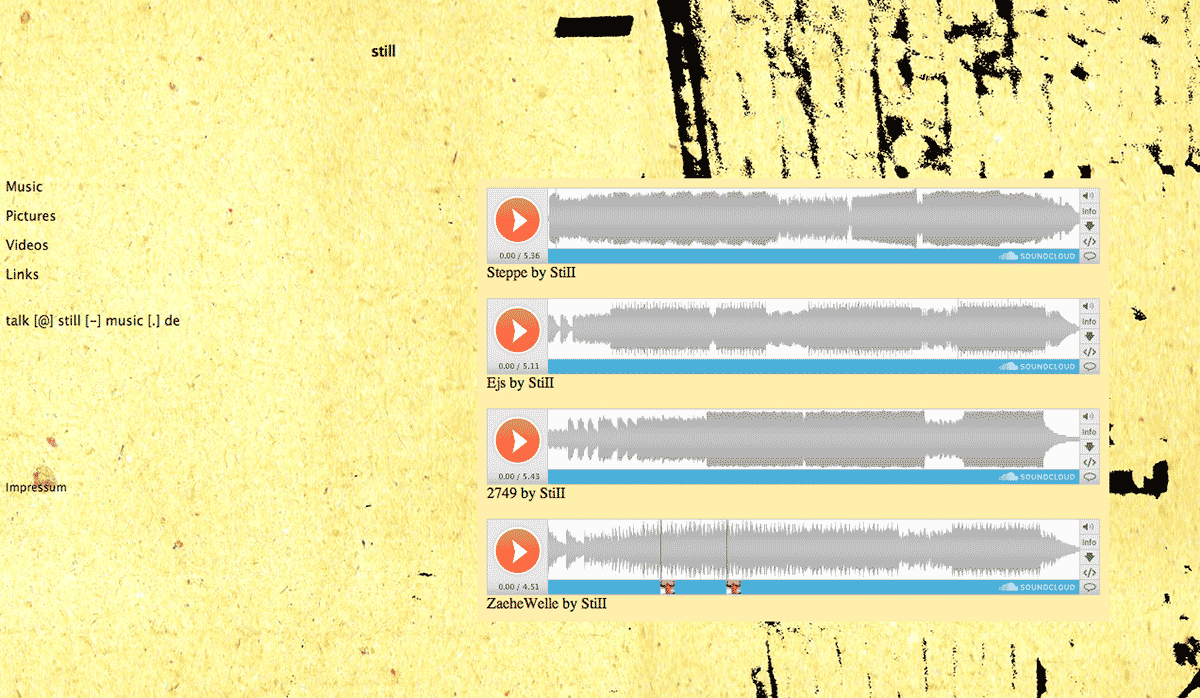 Screenshot Website Still Music