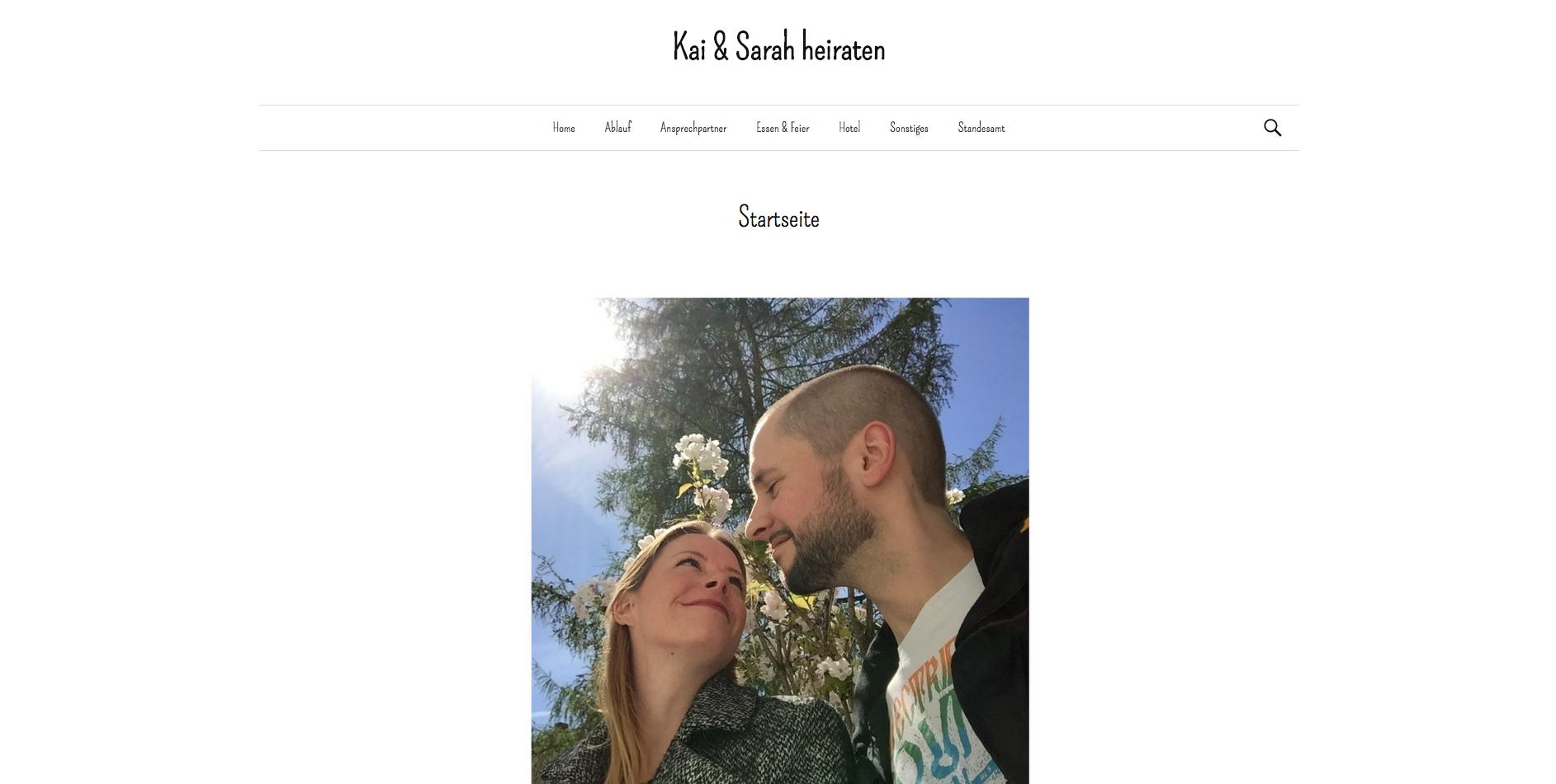 Hochzeits Website
