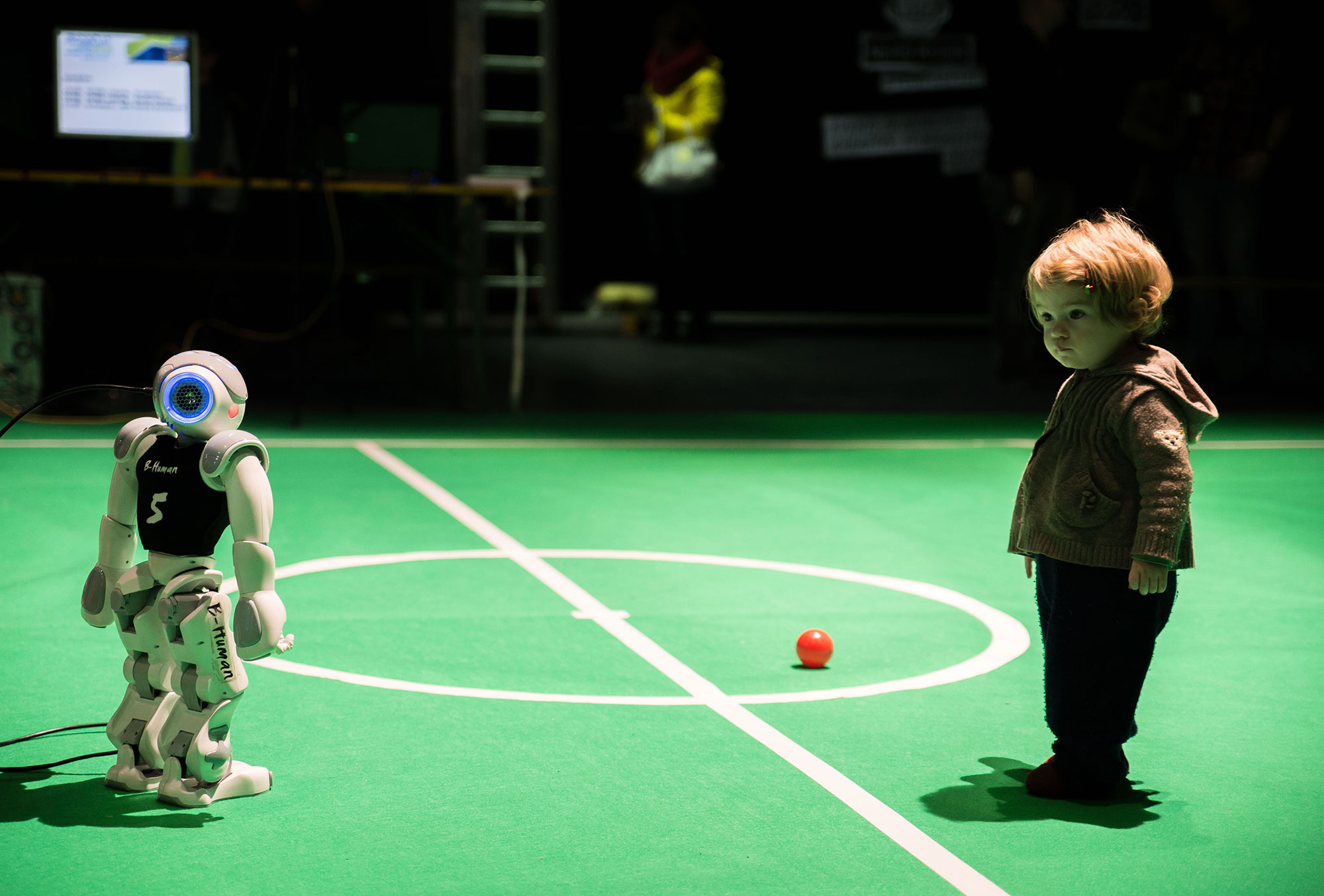 RoboCup Spielfeld Make Munich 2016 © Foto: Nathan Jamin