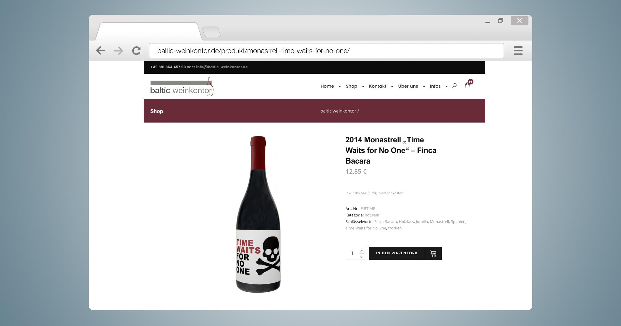 Mockup Produktdetailseite